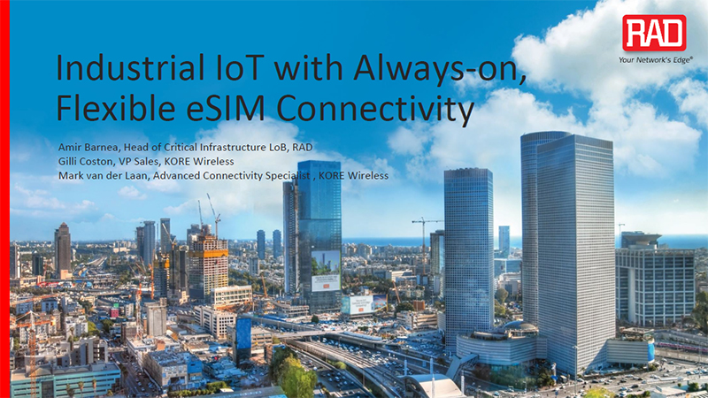 Industrial IoT with Always-on, Flexible eSIM Connectivity