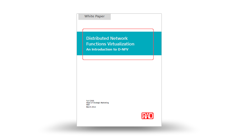 Distributed Network Functions Virtualization