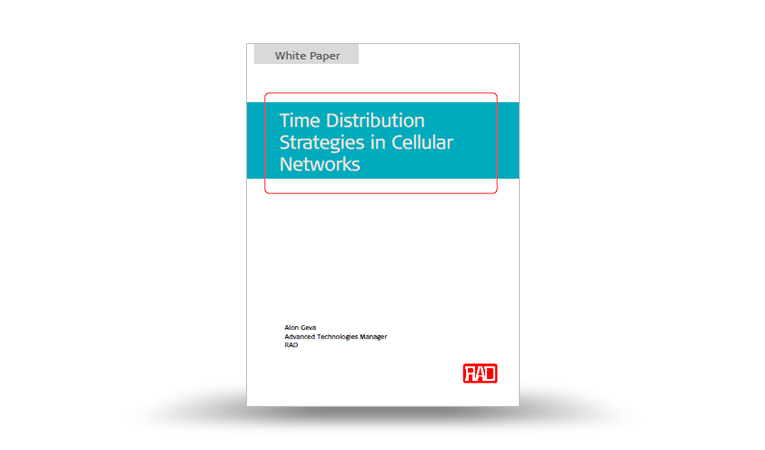 Time Distribution Strategies in Cellular Networks