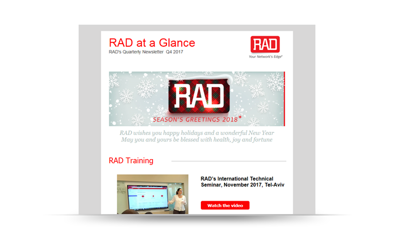 RAD at a Glance Newsletter Q4 2017