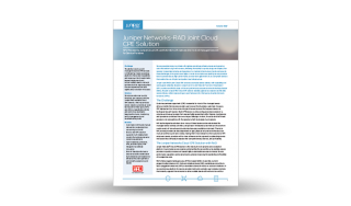 RAD-Juniper Networks Joint Cloud Solution