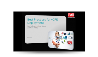 Best Practices for vCPE Deployment