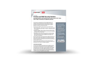 Fortinet and RAD Security Solution